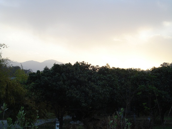 Sunrise and hills Corbett resort