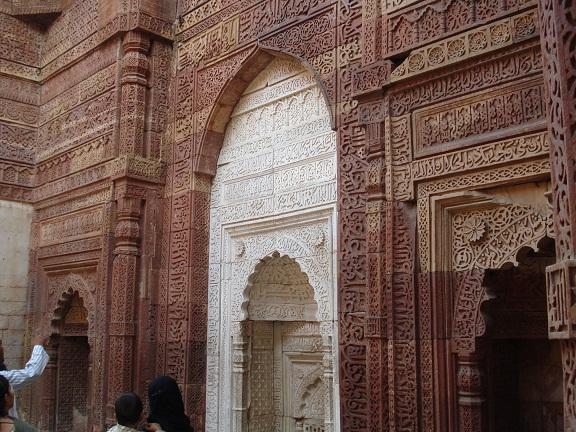 Prayer wall inside Iltutmish grave