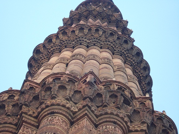 balconies of qutub minar