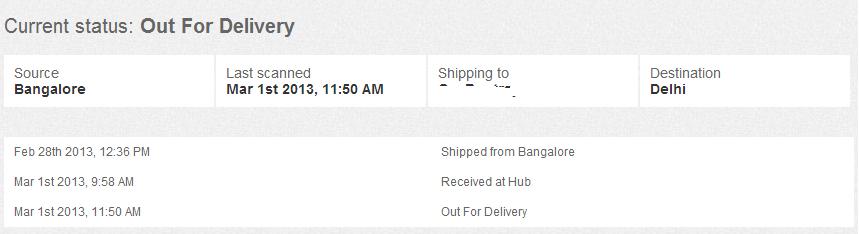 zovi delivery status