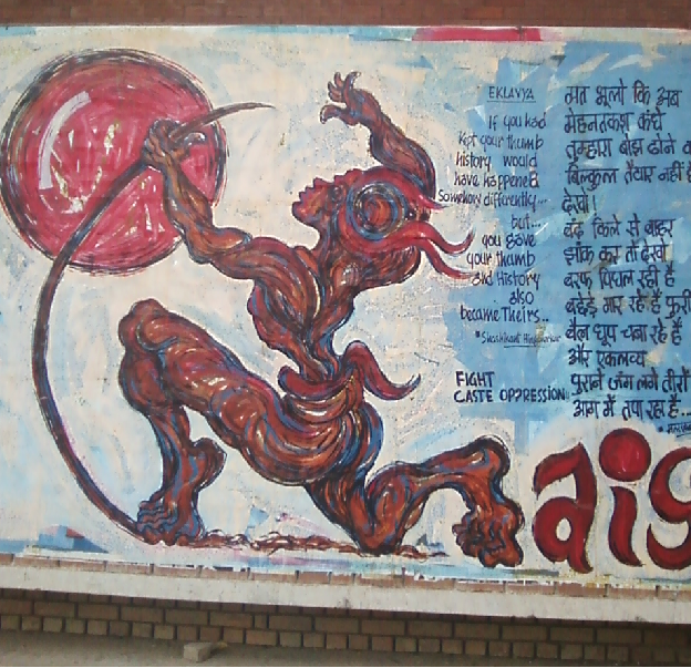 walll paintings at JNU