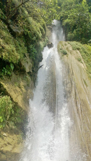 two storey waterfall