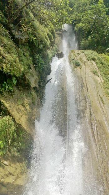 two storey waterfall