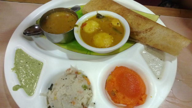 mini thali at sarvana bhawan janpath
