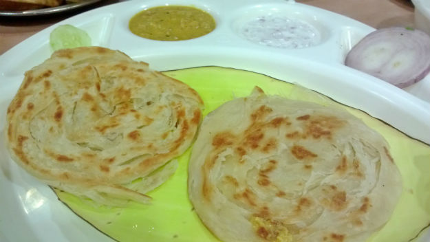 parotta at sarvana bhawan connaught place