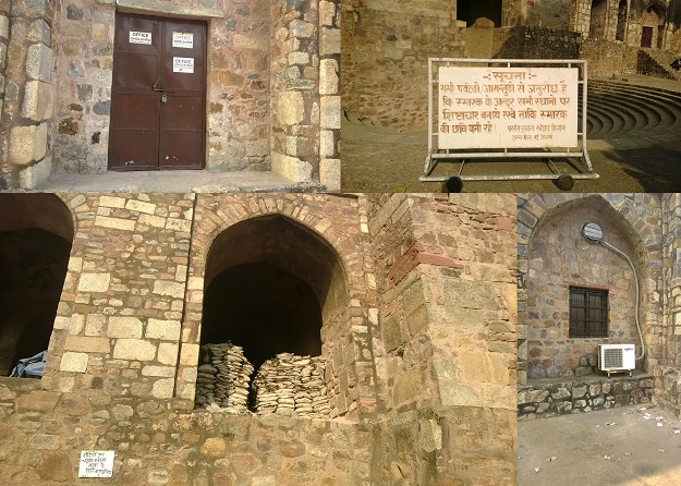 ASI work inside purana qila