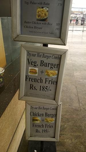 airport food delhi