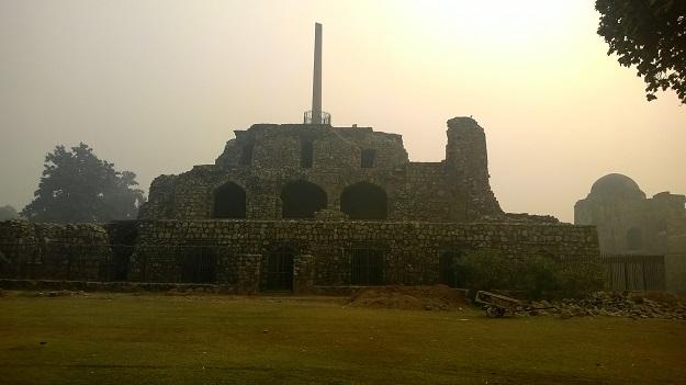 ashoka pillar in feroz shah kotla