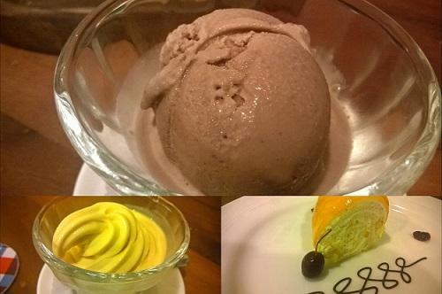 desserts at Diggin cafe