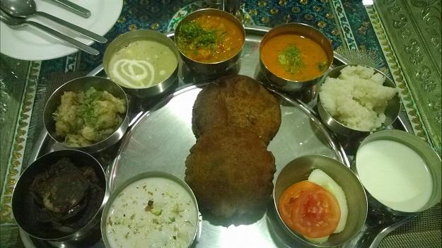 navaratra thali shraman Ashoka hotel