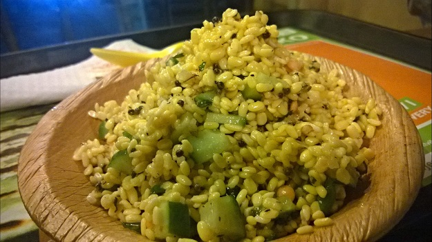 Sundal Salad with Moong Dal