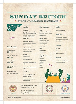 lodi garden restaurant Brunch Menu