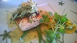 baked atlantic salmon with lemon parsley