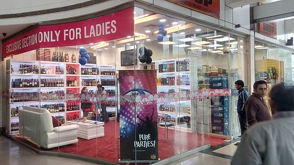 women only liquor shop delhi