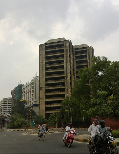 abandoned building, connaught place