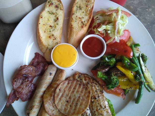 kalsang AMA cafe non veg platter